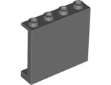 Panel 1 x 4 x 3 with Side Supports - Hollow Studs, Dark Bluish Gray (60581 / 6008715)