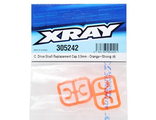 XRAY 3.5mm Plastic Drive Pin Clips (4) (Orange)