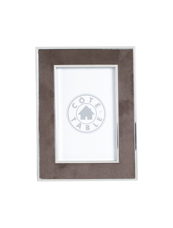 Фоторамка PHOTO FRAME SUEDE BROWN 15X20CM STEEL+POLYESTERарт.31846