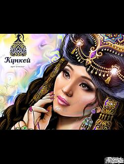 Романтичный портрет на заказ в этническом стиле.