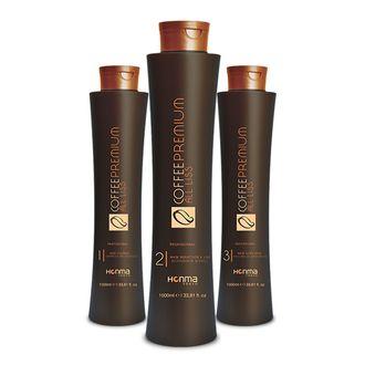 Набор COFFEE PREMIUM All Liss для выпрямления волос 500/1000/500 мл