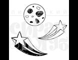 "ФП штамп ""Луна и звезды"""