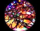 Гирлянда разноцветная на елку 80 ламп