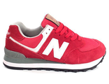 New Balance 574 Men's/Women's красно-белые