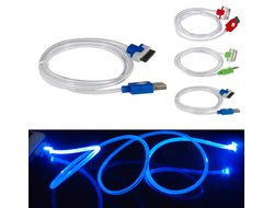 Кабель LED USB Dock Cable for iPhone 4/4S