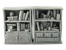 The Dark Magister bookshelves (unpainted)