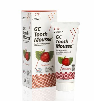 Тус Мусс GC Tooth Mousse, клубника, GC, 35 мл.