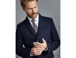 Пальто HAWES&CURTIS Men's Navy Wool Overcoat