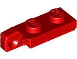 Hinge Plate 1 x 2 Locking with 1 Finger On End without Bottom Groove, Red (44301b / 4183039)