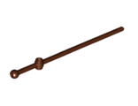 Bar  12L with Open Stud, Tow Ball, and Slit Boat Mast, Reddish Brown (476 / 6287572)