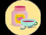 Купить БИЛЕТ на ДЕГУСТАЦИЮ ЦВЕТОЧНЫХ И ФРУКТОВЫХ ВАРЕНИЙ и вкусностей  с чаепитием в цветочной гостинной