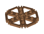 Technic, Plate Rotor 6 Blade with Clip Ends Connected (Water Wheel), Medium Nougat (64566 / 6143214)