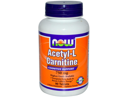 NOW Acetyl L-Carnitine 750mg (90 таб)