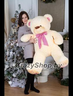 """Плюшевый медведь """"Тони"""" кремовый 140 см."""
