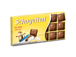 "Шоколад Schogetten Trilogia Kids Chocolate ""Детский"" 100грамм"