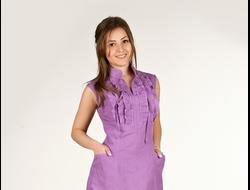 Нежное льняное платье артикул 01176. Последний размер в наличии