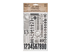 """Numbers"" натирки Ideaology, Tim Holtz"