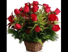 25 красных роз в корзине Феличита