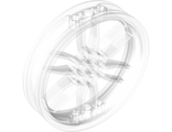 Wheel 75mm D. x 17mm Motorcycle, Trans-Clear (88517 / 6053875)
