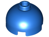 Brick, Round 2 x 2 Dome Top - Hollow Stud with Bottom Axle Holder x Shape + Orientation, Blue (553c / 6167491)