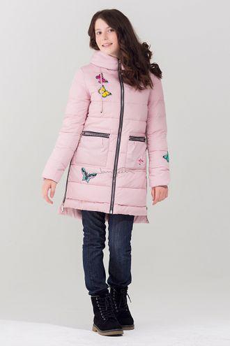 Jan Steen Парка для девочек био-пух  L2207 розовый фронт