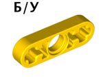 ! Б/У - Technic, Liftarm 1 x 3 Thin, Yellow (6632 / 4107823 / 6344174 / 663224) - Б/У