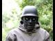 зомби в каске, фриц, немец, каска, защитная маска, пластиковая, страйкбол, пейнтбол, страшная, mask