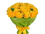 25 желтых роз 60/70см
