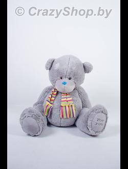 Плюшевый медведь Тедди с шарфиком 120 см.