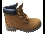 Ботинки Timberland с мехом песочные