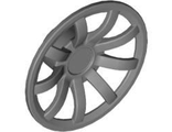 Wheel Cover 9 Spoke - 24mm D. - for Wheel 55982, Flat Silver (62701 / 4617460)