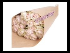 Букет Розовый Жемчуг (19 роз в крафте)