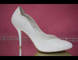 Свадебные туфли белые каблук шпилька № 761-1593=7
