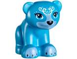 Bear, Friends / Elves, Baby Cub, Sitting with Black Nose, White Face Decorations and Medium Blue Paws and Muzzle Pattern ;Blubeary;, Dark Azure (14732pb04 / 6179259)