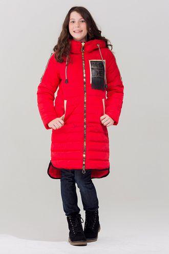 Jan Steen Парка для девочек био-пух  L2218 red front