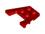 Wedge, Plate 3 x 4 with Stud Notches, Red (48183 / 4238305 / 4649048)