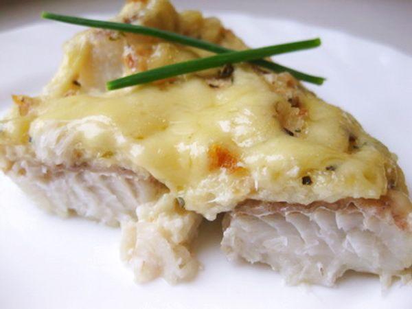Рыба с сыром и майонезом с фото