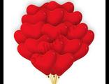 """красные латексные сердца 12"""" sempertex"""