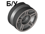 ! Б/У - Wheel 11mm D. x 6mm with 5 Spokes with Silver Outline Pattern, Black (50944pb01 / 4248538 / 6022424) - Б/У