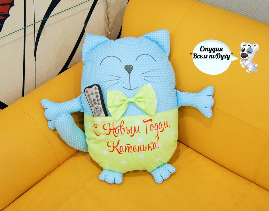 Кот-подушка своими руками из ткани 69