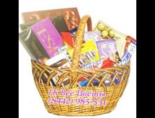 Огромная подарочная корзина сладостей Шоколадная Страна