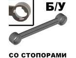 ! Б/У - Technic, Link 1 x 6 with Stoppers, Dark Gray (2739b / 4100406) - Б/У