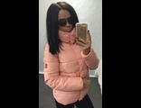 Женская весенняя куртка персиковая 002-019