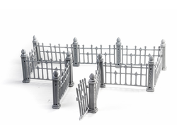 Wrought iron fence (unpainted)