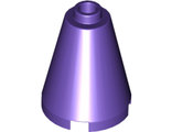 Cone 2 x 2 x 2 - Completely Open Stud, Dark Purple (3942c / 4297454 / 6060830 / 6064621)