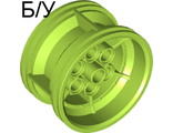 ! Б/У - Wheel 43.2mm D. x 26mm Technic Racing Small, 6 Pin Holes, Lime (56908 / 6099539) - Б/У