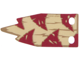 Cloth Flag 6.5 x 4 Wave with Dark Red Triangles and Dark Tan Lines on Tan Background Pattern, n/a (bb872)