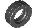 Tire 17.5mm D. x 6mm with Shallow Staggered Treads - Band Around Center of Tread, Black (92409 / 4617848)