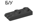 ! Б/У - Hinge Plate 1 x 2 with 3 Fingers, Black (4275 / 427526) - Б/У