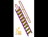 Лестница приставная с перилами
